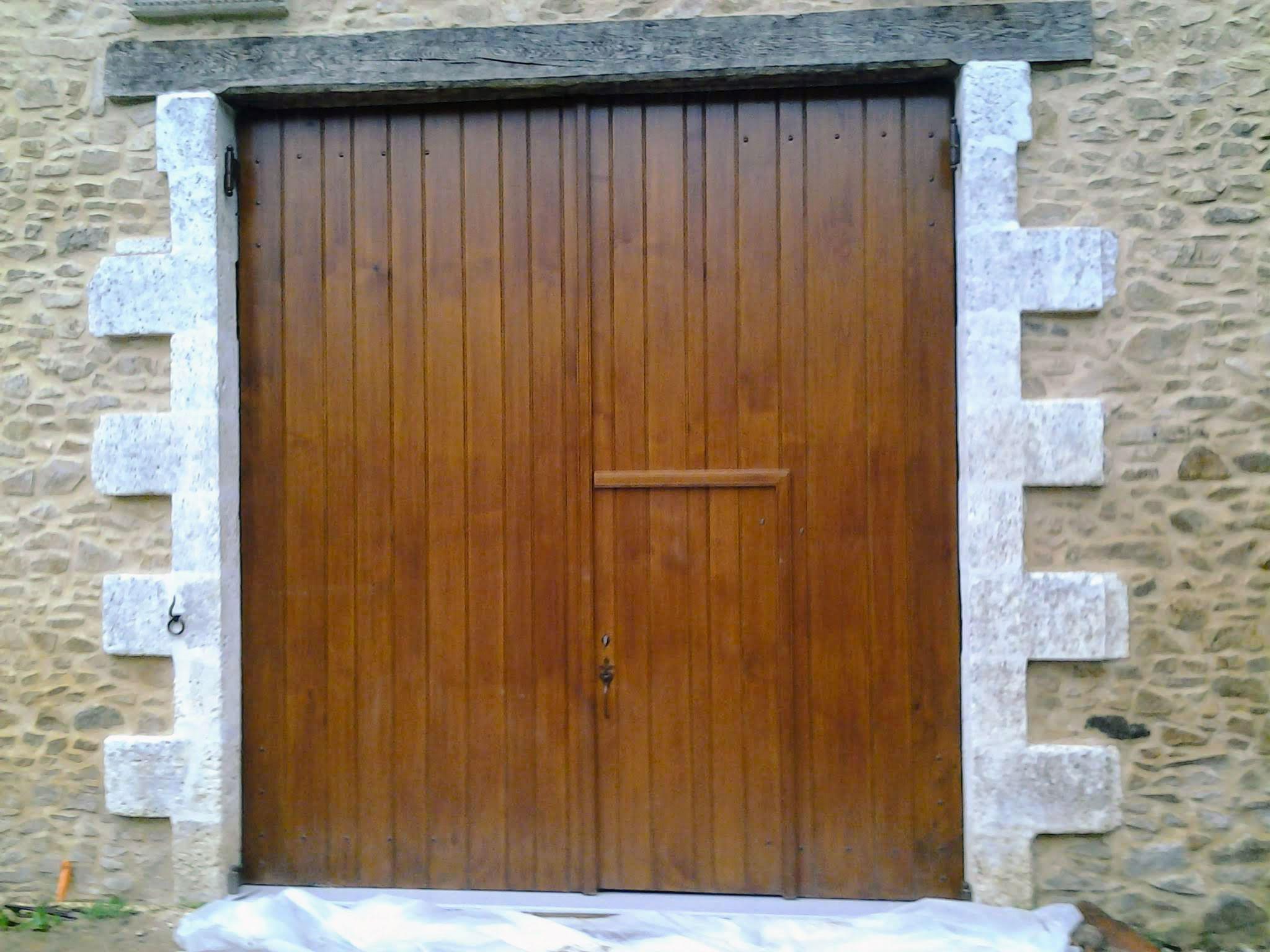Porte de garage bois 16