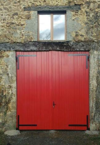 Porte de garage en Charente
