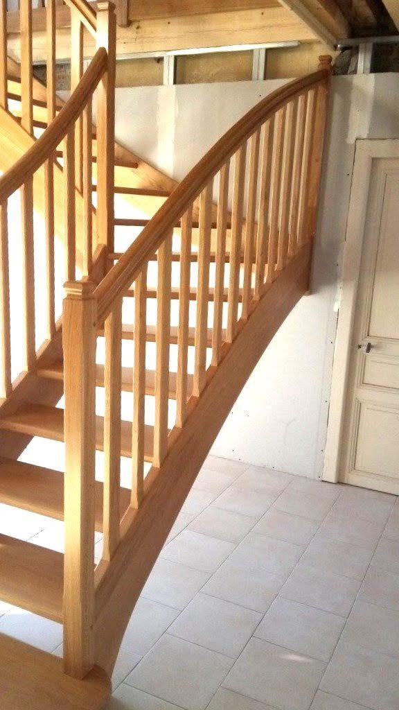 Rampe Escalier Bois Charente Fabrication Et Pose De Rampes