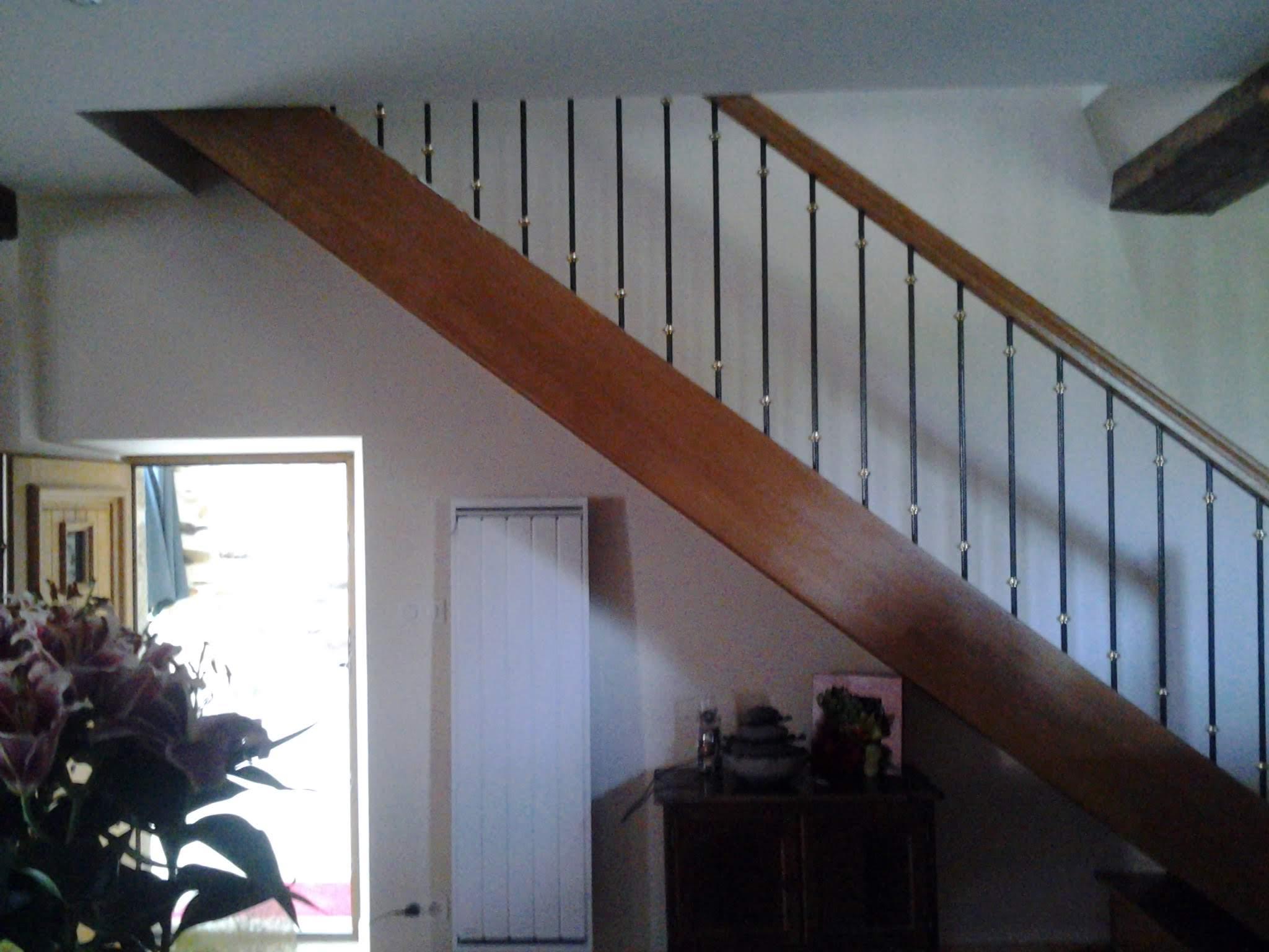 Rampe escalier bois Charente