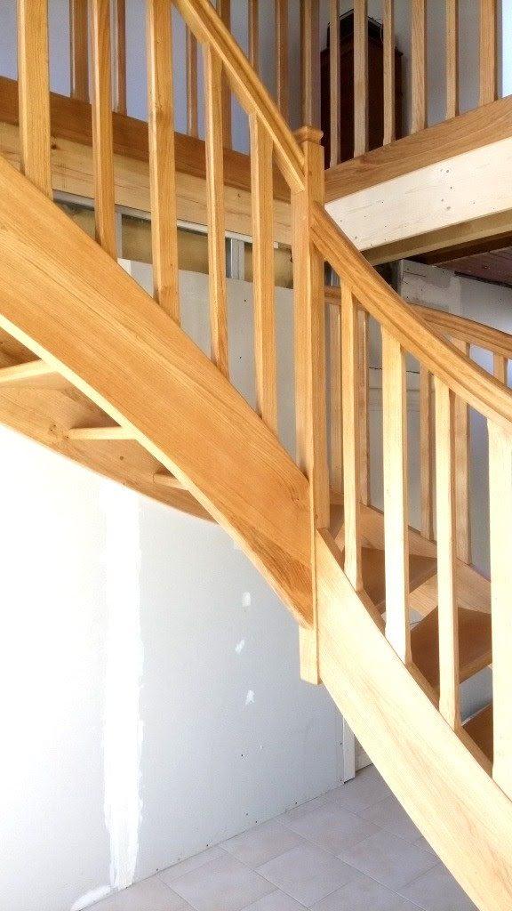 Rampe escalier bois