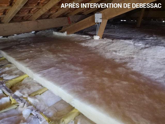 Après isolation des combles Charente par Debessac