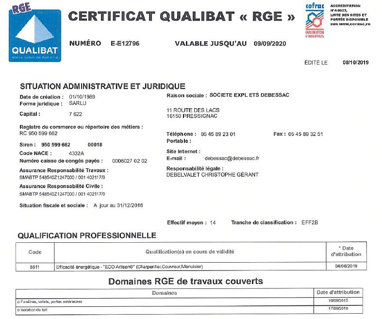 Isolation Charente