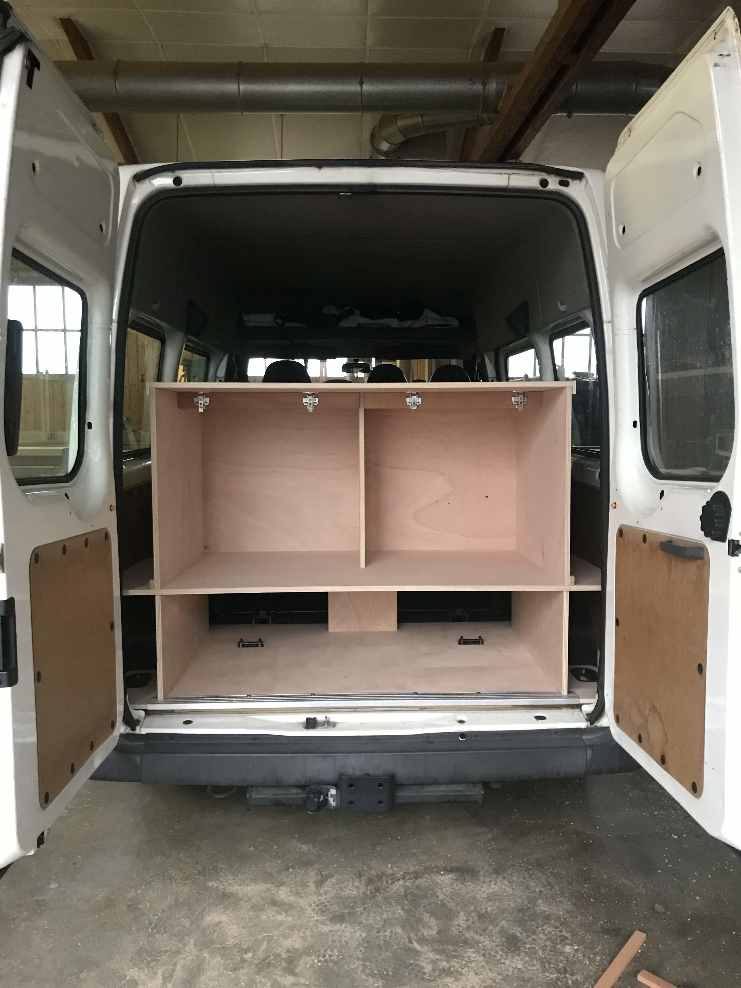 Aménagement véhicule en bois